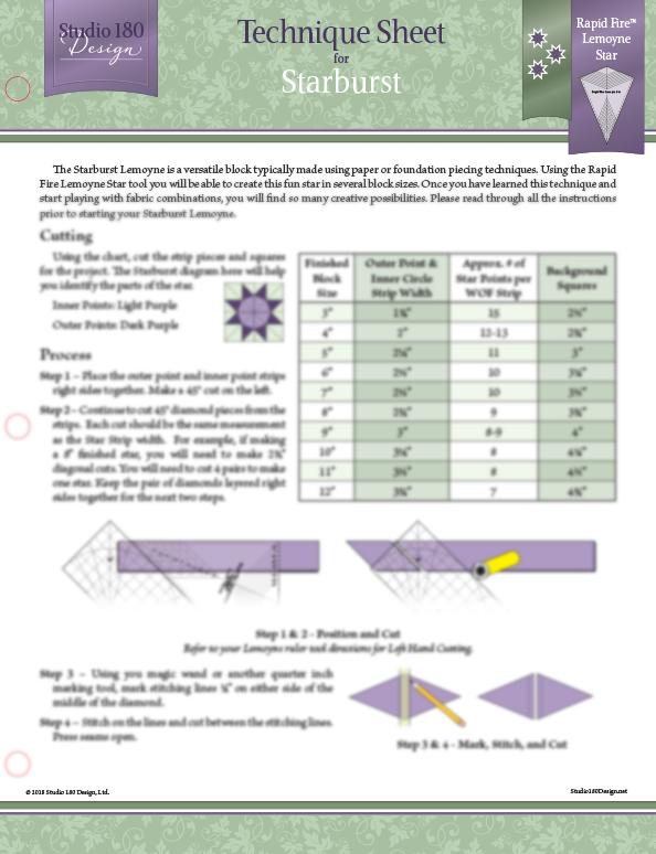 Starburst_Technique_Sheet